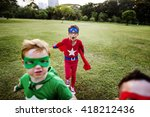 superhero kids aspiration... | Shutterstock . vector #418212436