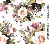 watercolor seamless pattern... | Shutterstock . vector #418222588