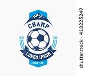 logo football champ. abstract... | Shutterstock .eps vector #418225249