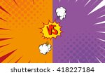 versus letters fight... | Shutterstock .eps vector #418227184