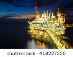 oil and gas production platform ... | Shutterstock . vector #418227220