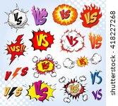 versus letters fight... | Shutterstock .eps vector #418227268