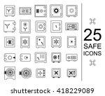 safe icon vector collection | Shutterstock .eps vector #418229089