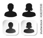 vector user black symbols....   Shutterstock .eps vector #418229530