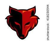 fox head wolf head logo | Shutterstock .eps vector #418230544