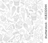 vector seamless pattern with... | Shutterstock .eps vector #418232044