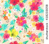 seamless floral  background.... | Shutterstock .eps vector #418233058