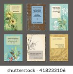 vintage grungy cards   with... | Shutterstock .eps vector #418233106