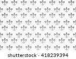 heraldic seamless wallpapers.... | Shutterstock . vector #418239394
