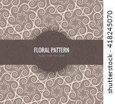 vintage floral background | Shutterstock .eps vector #418245070