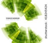 shiny green technology... | Shutterstock .eps vector #418245424