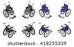 wheelchair detailed isometric... | Shutterstock .eps vector #418255339