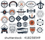 vintage insignias and logotypes ... | Shutterstock .eps vector #418258549