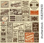 mega set of old advertisement... | Shutterstock .eps vector #418259650