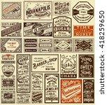 mega set of old advertisement... | Shutterstock .eps vector #418259650