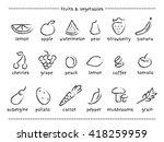 vector grey symbols set of... | Shutterstock .eps vector #418259959