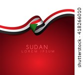 sudan flag ribbon   vector... | Shutterstock .eps vector #418266010
