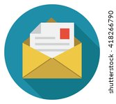 mail icon | Shutterstock .eps vector #418266790