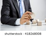 concept of business hierarchy... | Shutterstock . vector #418268008