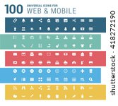multicolor pictogram icon pack  ... | Shutterstock .eps vector #418272190