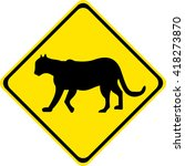 road sign warning about the... | Shutterstock .eps vector #418273870