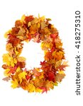 alphabet sign from autumn leaf... | Shutterstock . vector #418275310