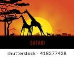 vector illustration of africa... | Shutterstock .eps vector #418277428