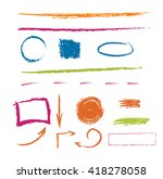 set of colorful hand drawn oil... | Shutterstock .eps vector #418278058