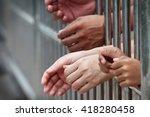 prisoner in jail | Shutterstock . vector #418280458