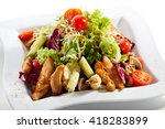 salad with chicken  tomatoes... | Shutterstock . vector #418283899