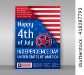 independence day poster. happy... | Shutterstock .eps vector #418287793