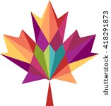 maple leaf abstract geometric... | Shutterstock .eps vector #418291873