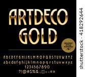 Vector Set Of Beautiful Gold...