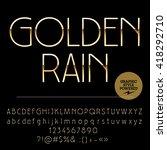 vector set of elegant golden... | Shutterstock .eps vector #418292710