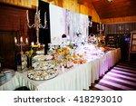 elegance wedding reception... | Shutterstock . vector #418293010