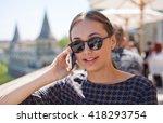 outdoors portrait of happy... | Shutterstock . vector #418293754