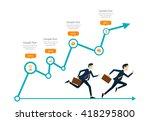 business man competitive run... | Shutterstock .eps vector #418295800