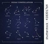 constellations  night sky ... | Shutterstock .eps vector #418301764
