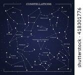 constellations  night sky ... | Shutterstock .eps vector #418301776