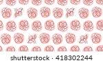 seamless texture. flowers... | Shutterstock . vector #418302244