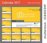 desk calendar for 2017 year....   Shutterstock .eps vector #418302349