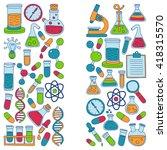 chemistry pharmacology natural... | Shutterstock .eps vector #418315570