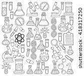 chemistry pharmacology natural... | Shutterstock .eps vector #418317250