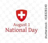 swiss national day background.... | Shutterstock .eps vector #418328140