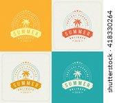 summer holidays retro... | Shutterstock .eps vector #418330264