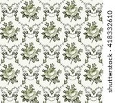 seamless classic pattern.... | Shutterstock .eps vector #418332610