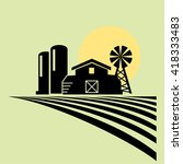 farmland icons vector | Shutterstock .eps vector #418333483
