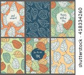 template invitation cards.... | Shutterstock .eps vector #418334260