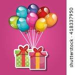 happy birthday design    Shutterstock .eps vector #418337950