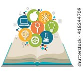 education concept design  | Shutterstock .eps vector #418344709